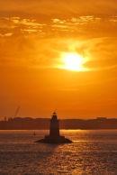 New York Lighthouse Sunset