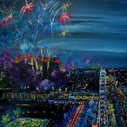Edinburgh Fireworks Pink