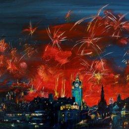 Edinburgh Fireworks Red