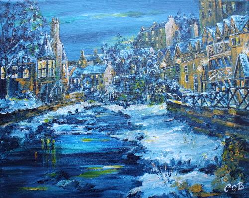 Winter's Evening Dean Village