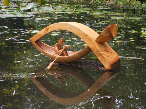 Journey- Carved in oak and winner of the CAST award in Sculpture in Context 2008