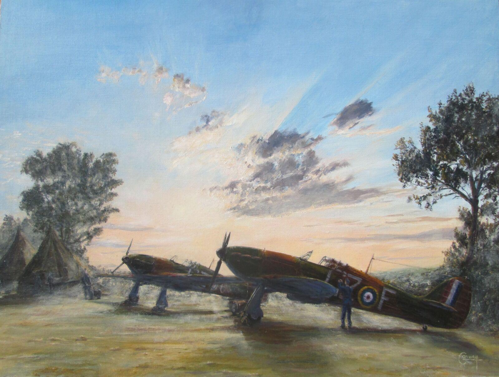 'Dawn Readiness' - Hurricanes of No. 32 Squadron