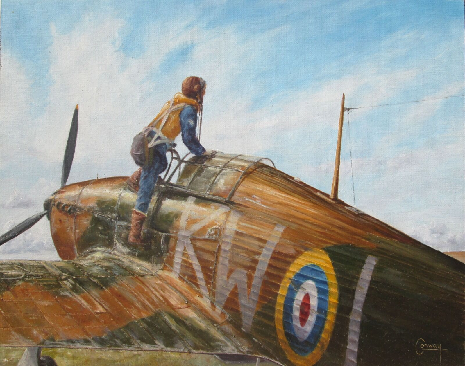 'Scanning the Sky' - Hurricane of No. 615 Squadron