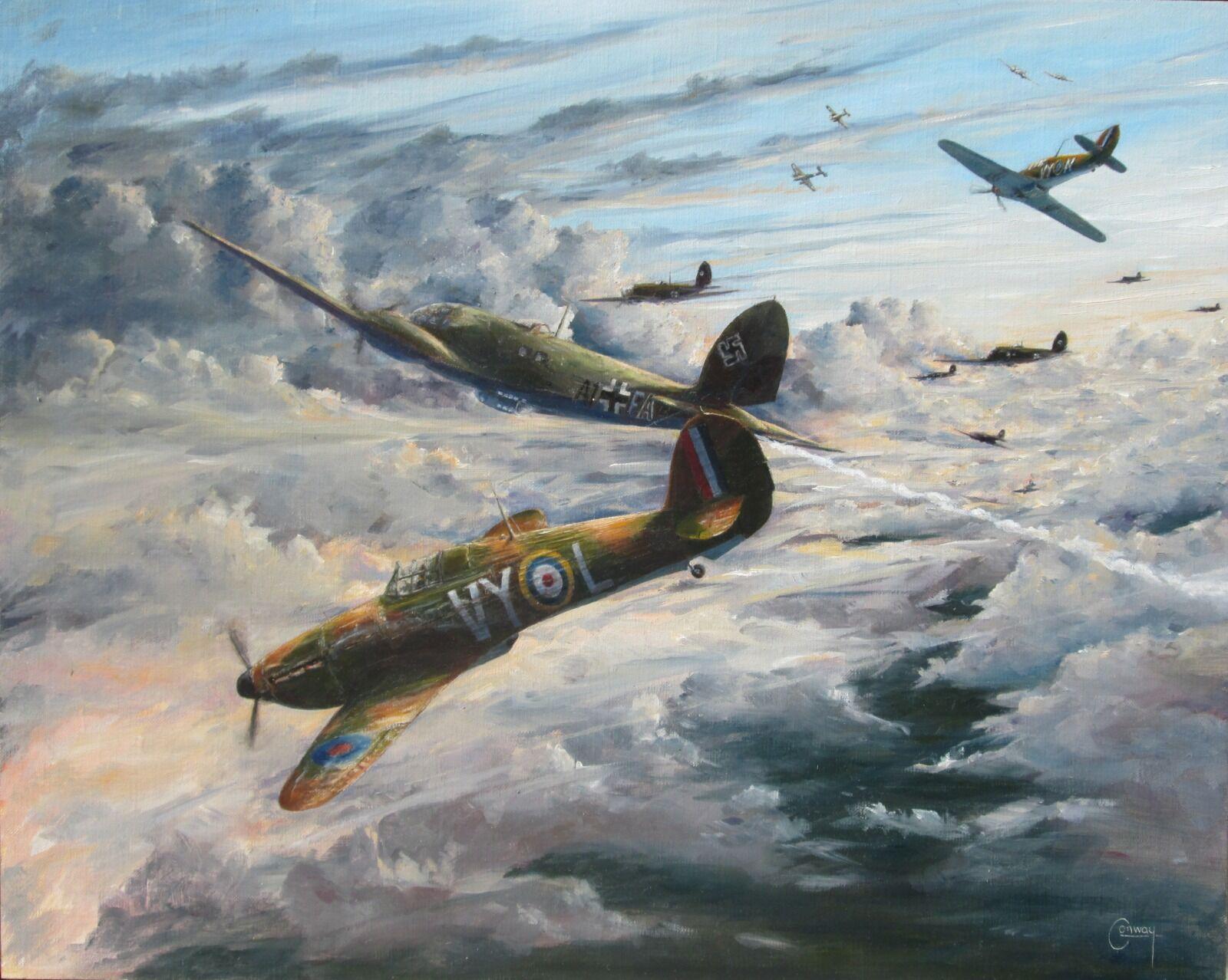 'Evening Fight' - Hurricane of F/Lt. Harry Raymond Hamilton, No. 85 Squadron