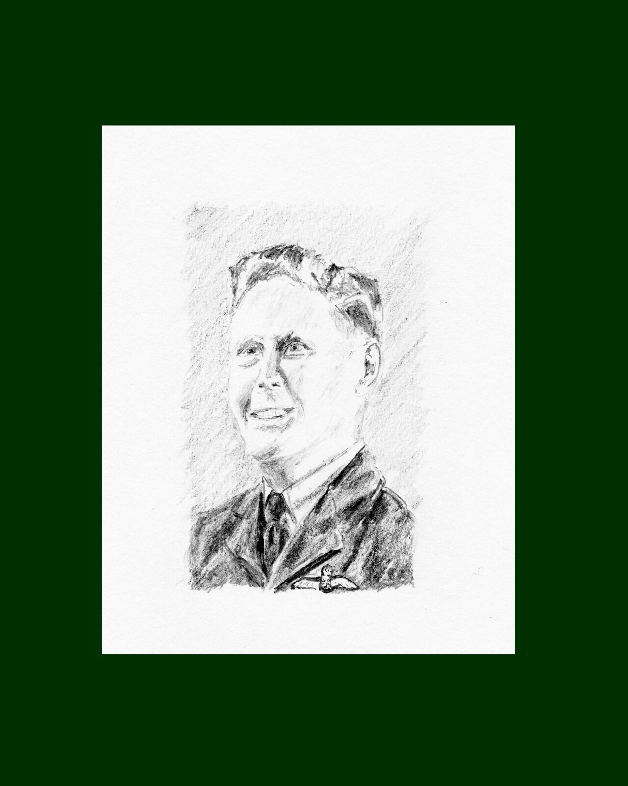 A portrait of Sgt. Basil Whall
