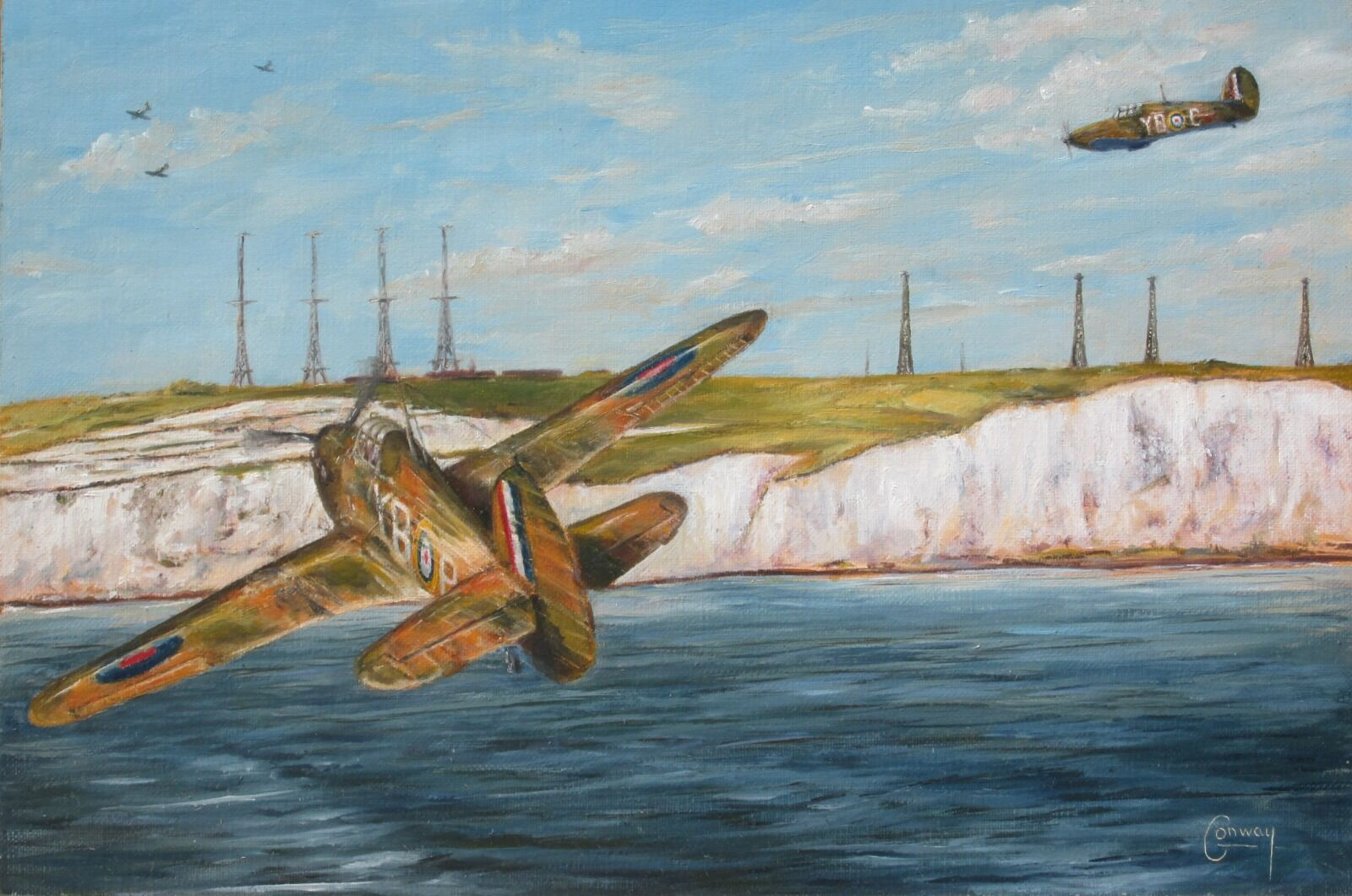 'Back Among Friends' - Hurricane of Sq/L. Cedric Watcyn Williams, No. 17 Squadron at Swingate, Dover
