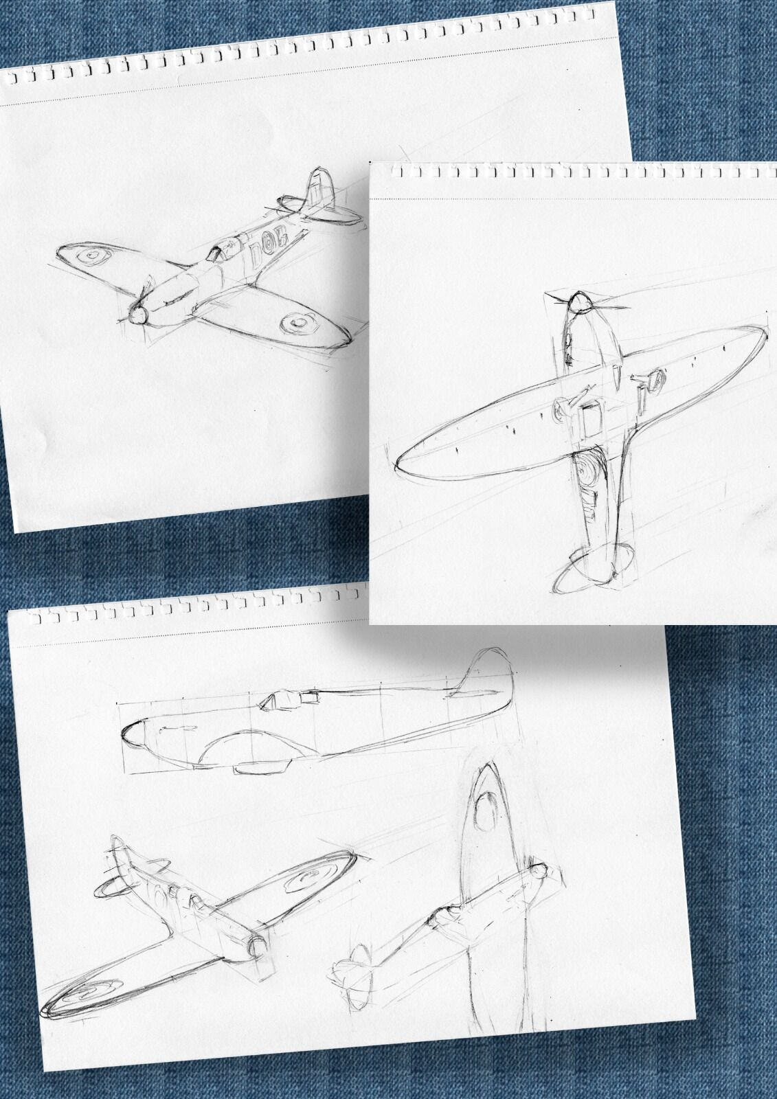 First Spitfire sketches