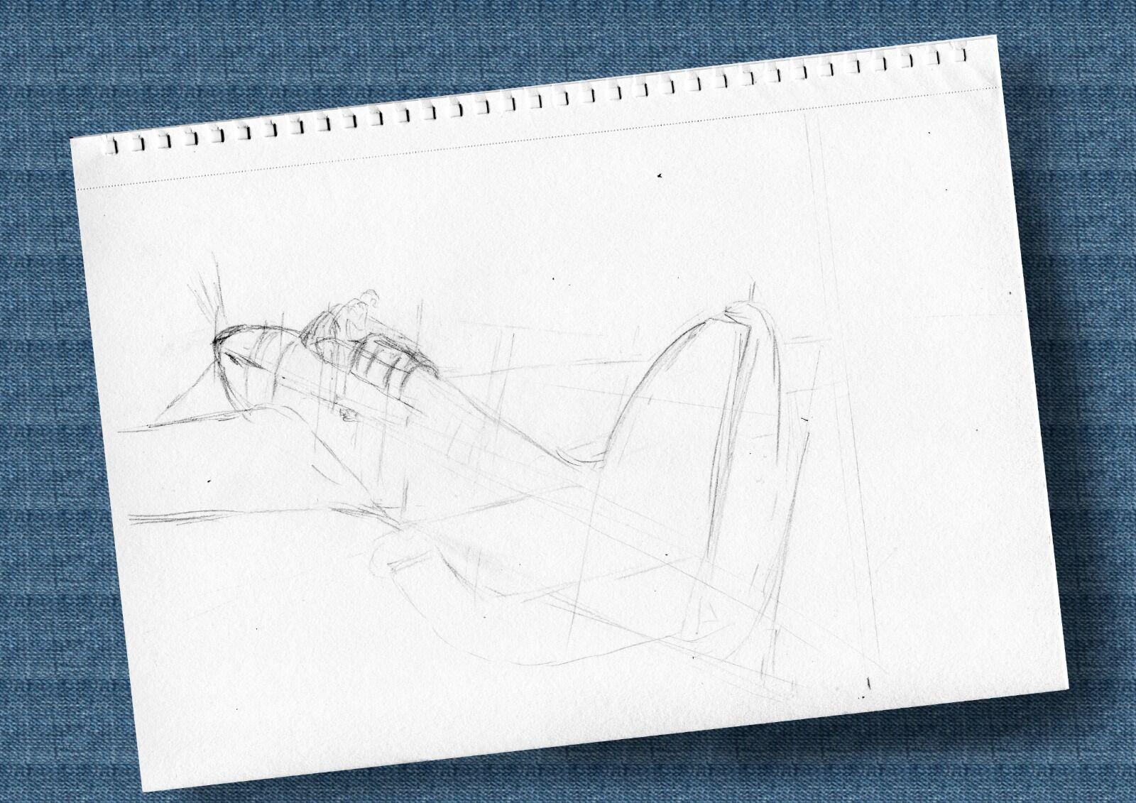 Hurricane sketch mounted