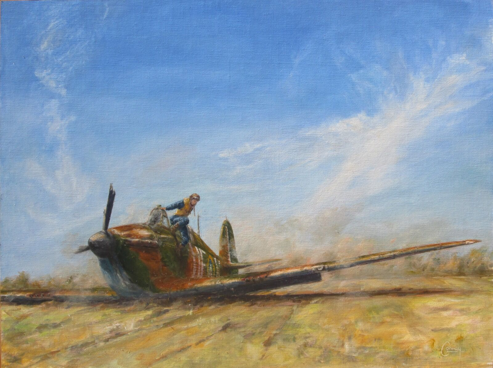"""""""Never Got Out So Quickly"""" - Hurricane of F/Sgt. Arthur Herbert Dorrien 'Bill' Pond, No. 601 Squadron (Sold)"""