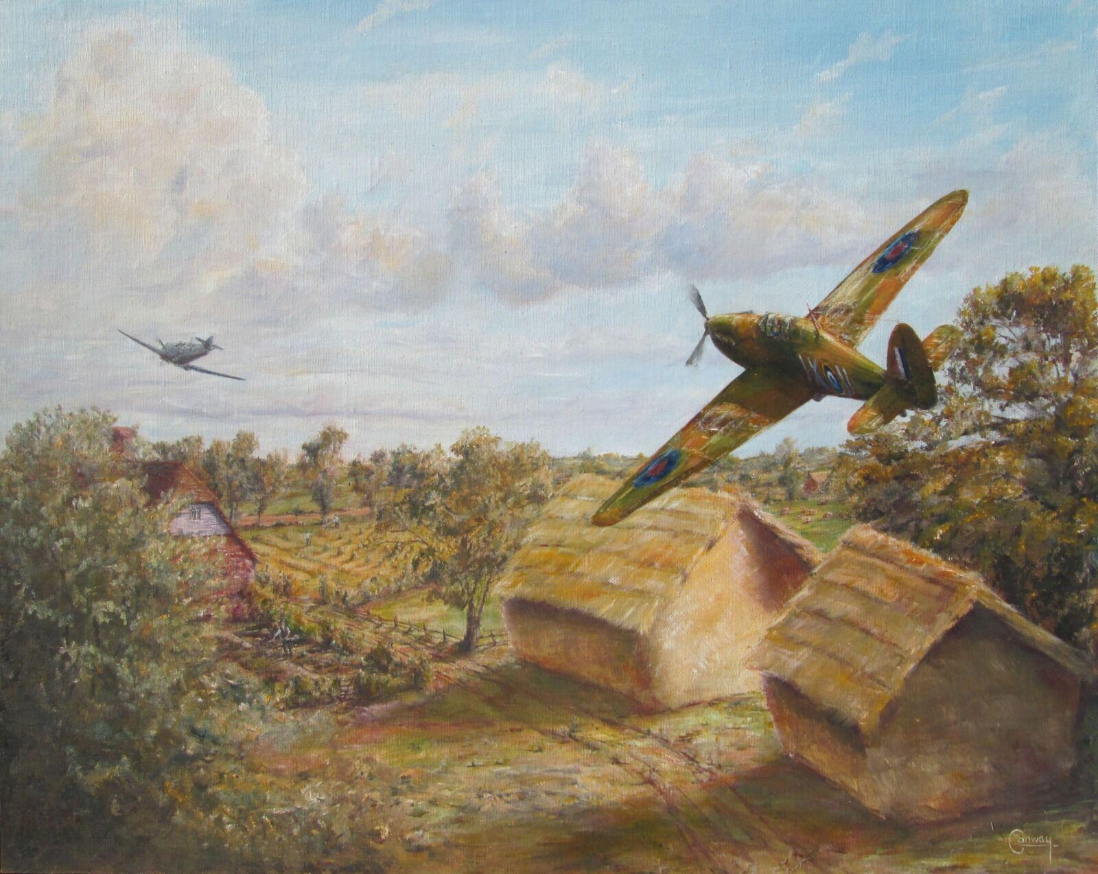 'The Long Chase' - Hurricane of Sq/L. David Alwyne Pemberton, No. 1 Squadron