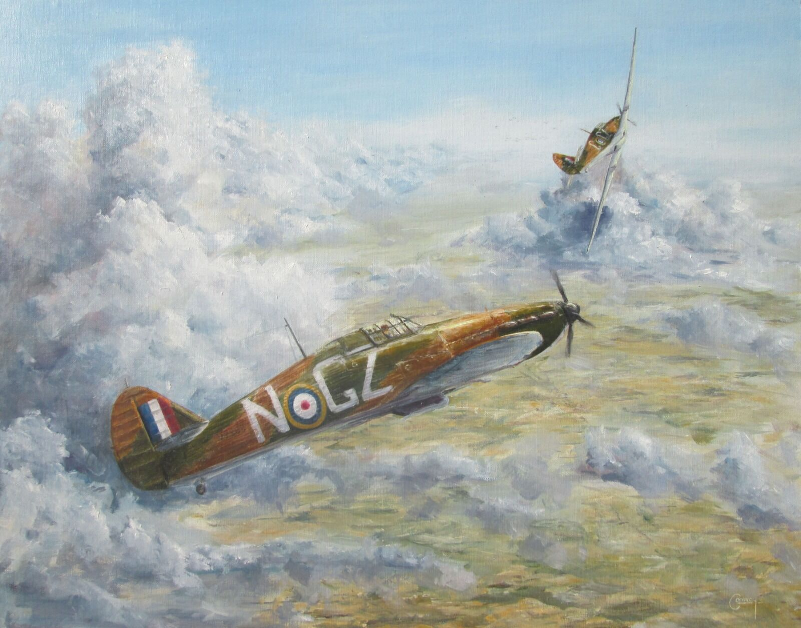 'Two Minutes to Close' - Hurricane of F/Lt. Humphrey a'Beckett Russell, No. 32 Squadron