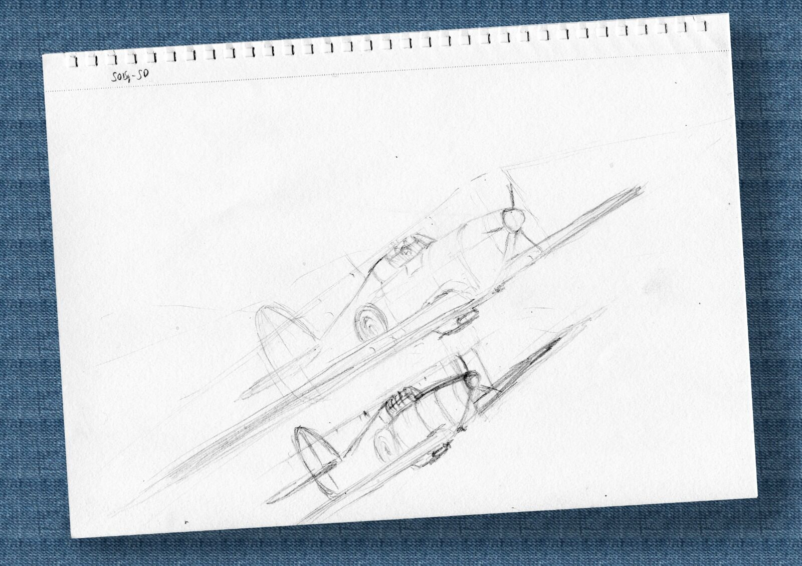 Spitfire and Hurricane sketch