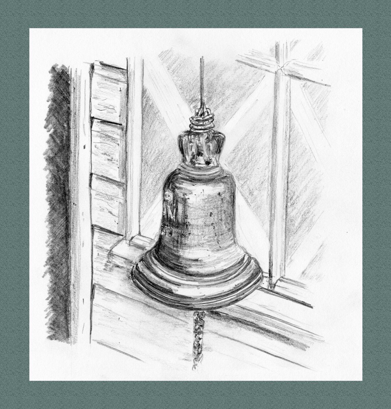 Scramble Bell outside dispersal hut.