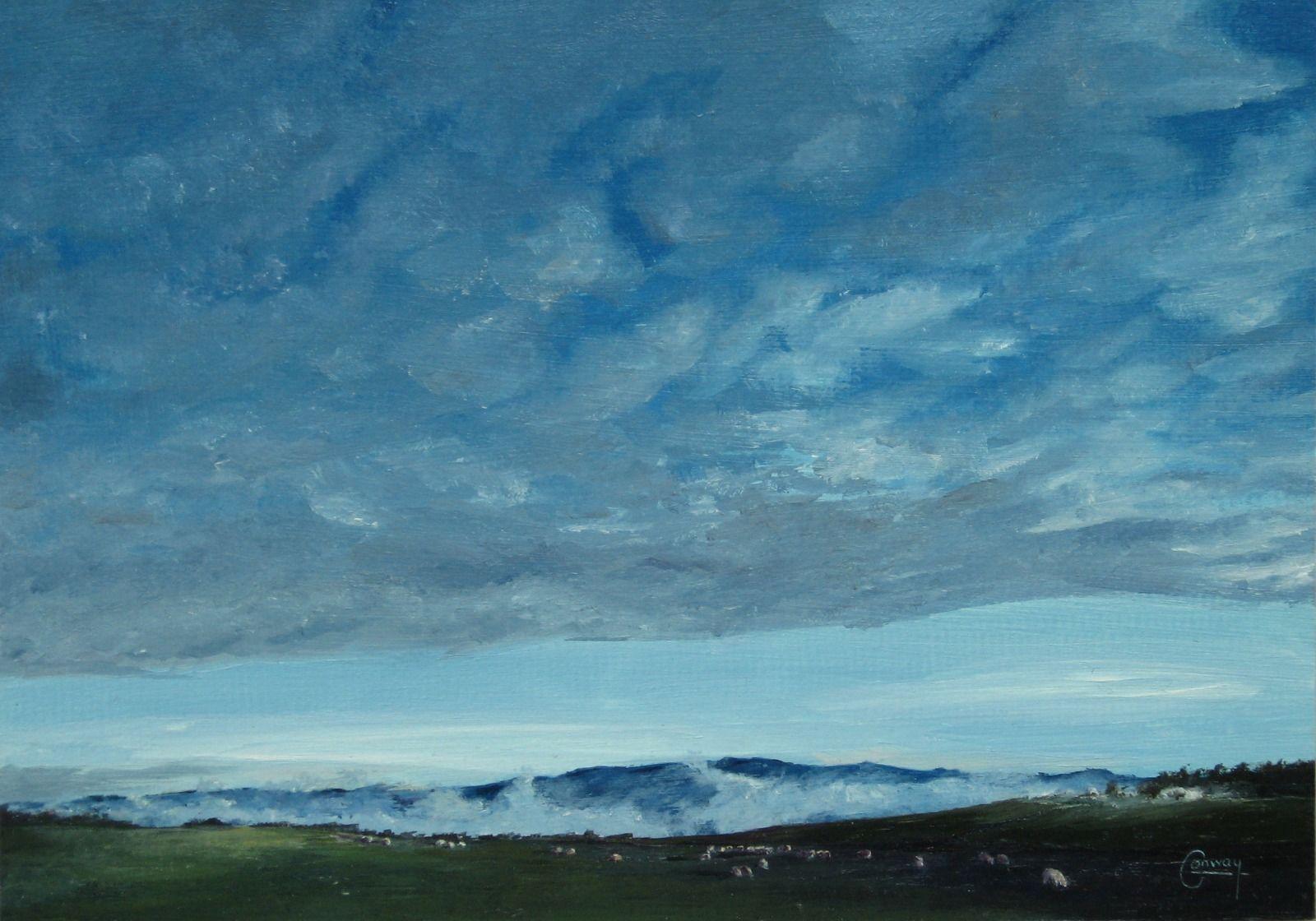 'Sky and Sheep, Looking East' - Llansawel, Carmarthenshire