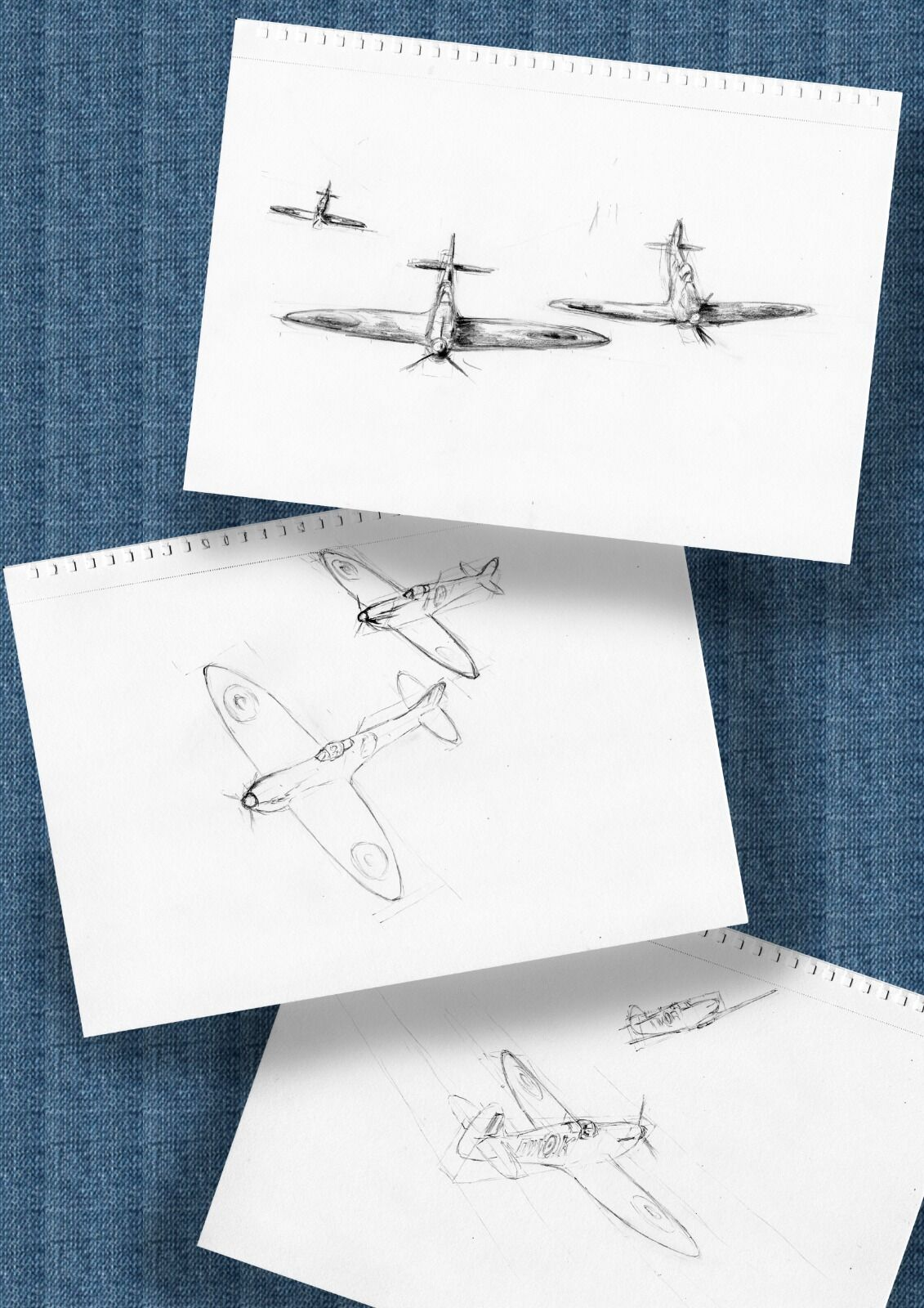 Spitfire pair sketches