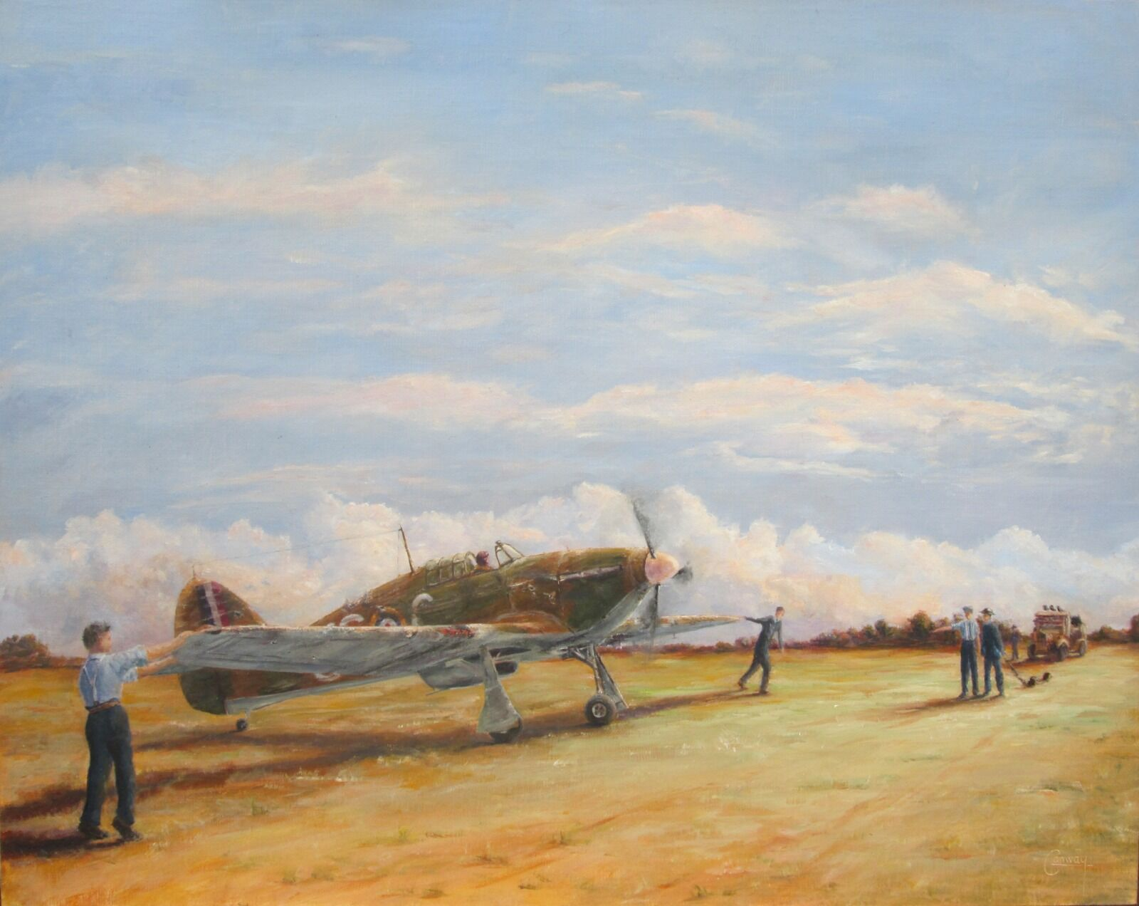"""""""It'll need more than your Needle and Thread Tonight""""- Hurricane of F/O. Innes Bentall Westmacott, No. 56 Squadron"""