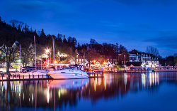 Ambleside at night by Jason Willis - Commended