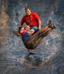 Born Survivor Mud slide by Chris Wood [18]