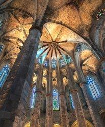 Columns of the Basilica (de Santa Maria Del Mar) by Janice Carroll [16]
