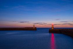 Lighthouse sunset by Gary Cherry - commended