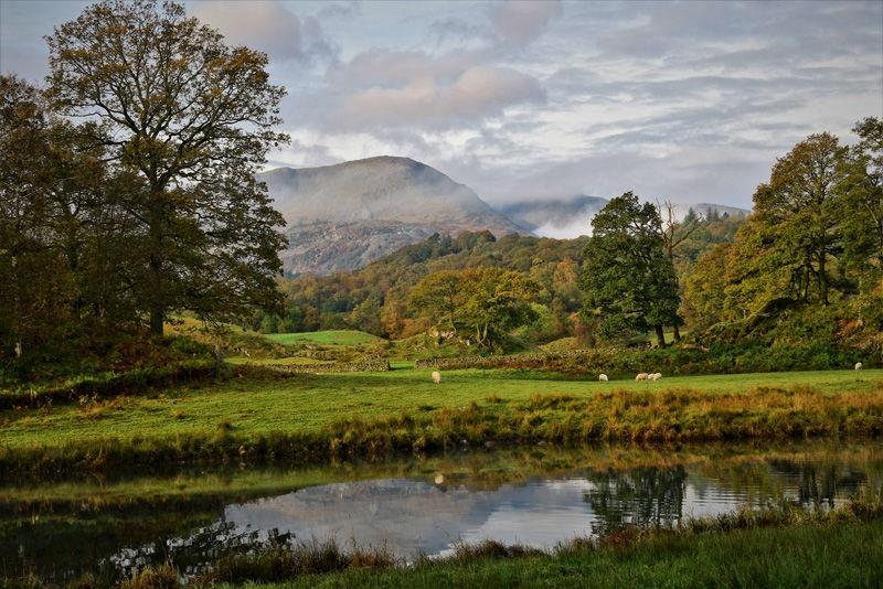 Mist over the fells at Elterwater by Ann Draper - Commended