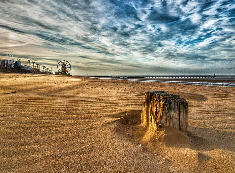 Winter Beach Walk by Ian Cutts - Commended