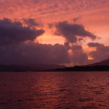 A night sky sunset, Isle of Raasay Overlooking The Isle Of Skye