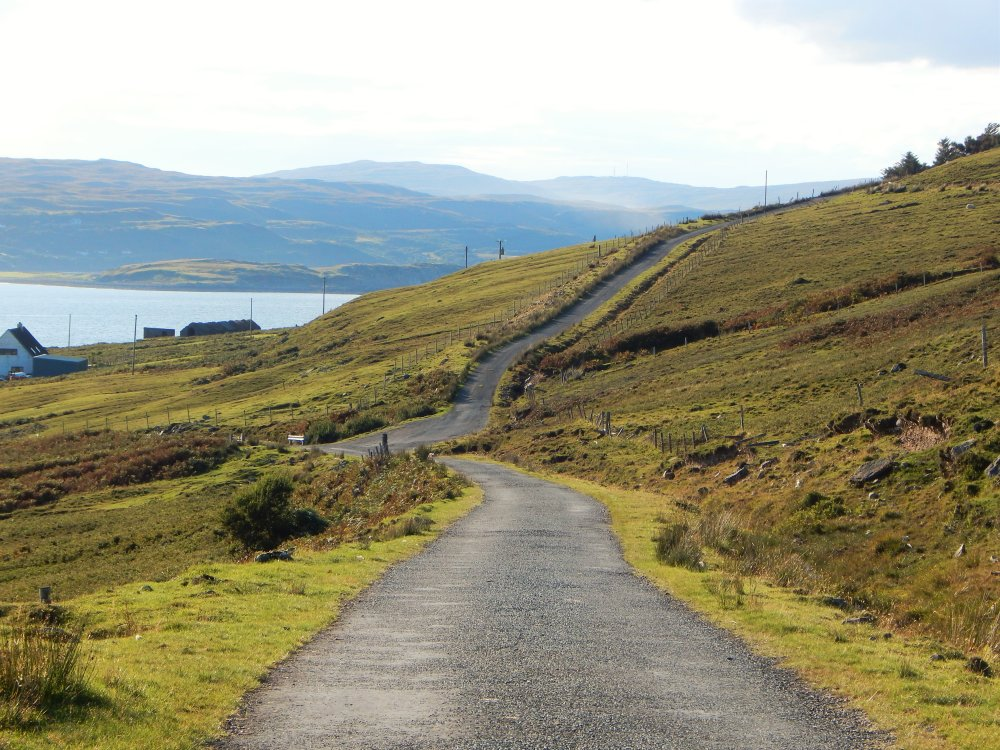 Roadway On The Isle Of Raasay Highlands