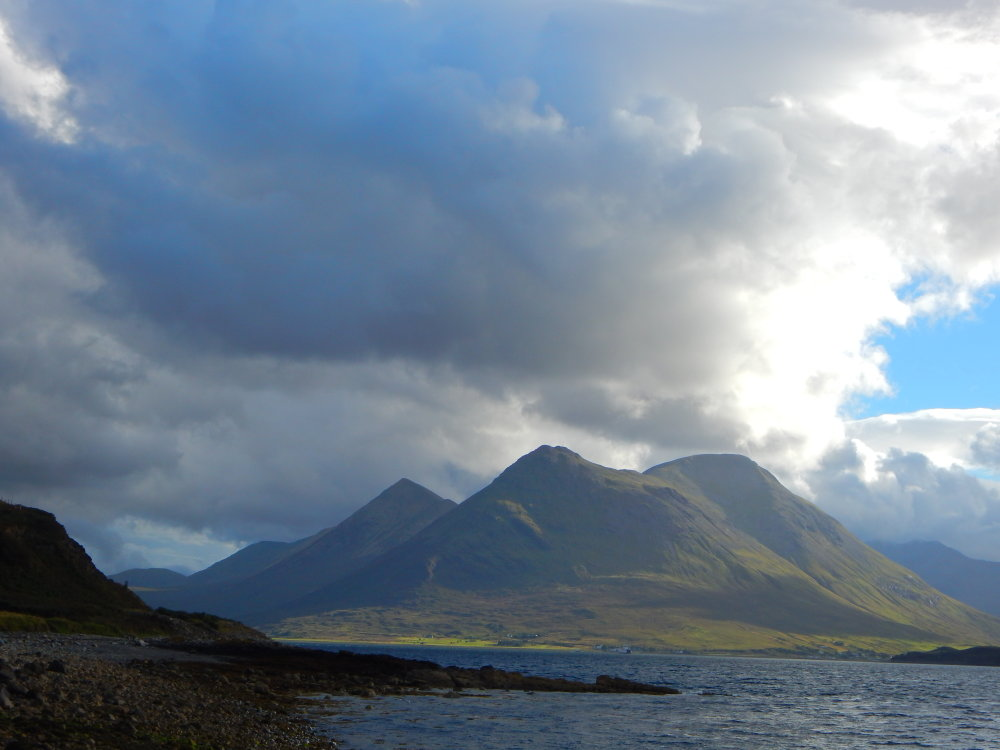 A mountains view on the Isle of Raasay