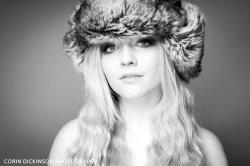 Beauty Portrait in Fur