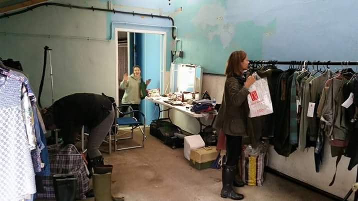 Glam makeup/wardrobe room for Thatchers
