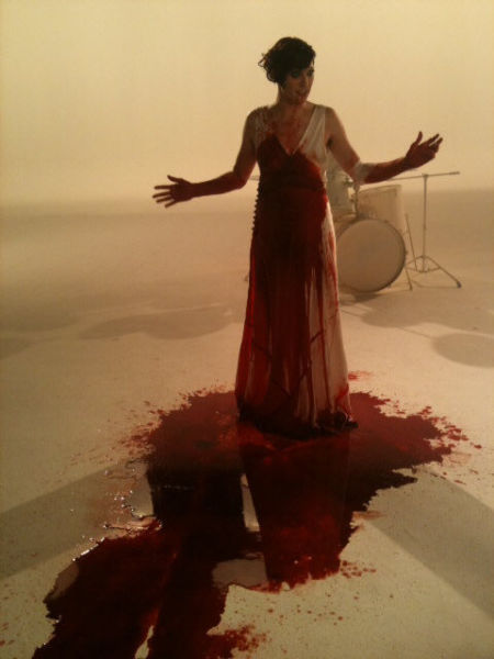 Amanda Palmer on the set of The Killing Type