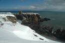 Dunottar Castle in the snow