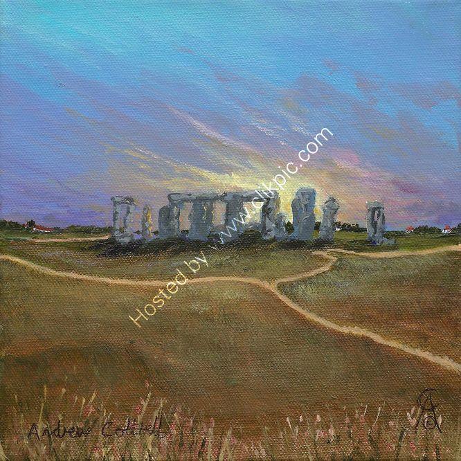 Sun Sets Over Stonehenge