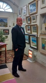 Colin Wilkinson from UTV Live at the gallery