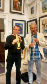 Gerard Mc Chrystal and Paul Schuman, acclaimed musicians play at the gallery