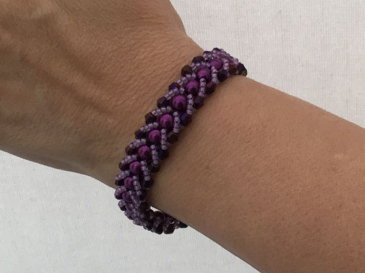 Seed bead and Crystal Bracelet