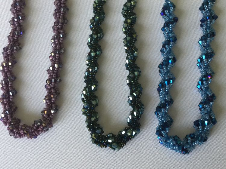 Bead Woven Necklace or Bracelet
