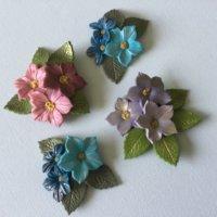 Polymer flower brooch
