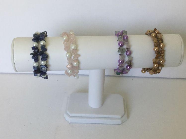Wire and Gemstone Bracelet