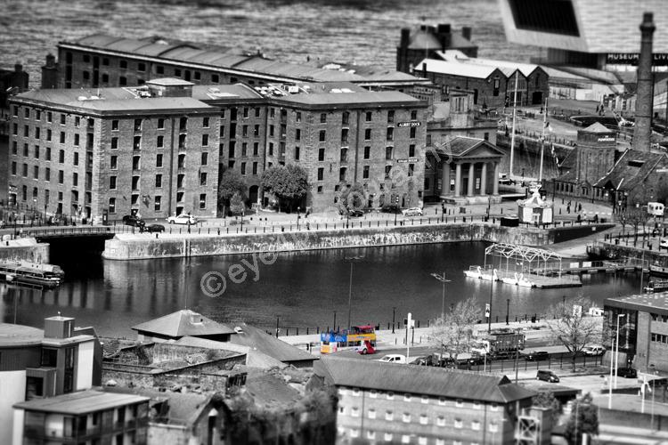 Aerial view Albert Dock