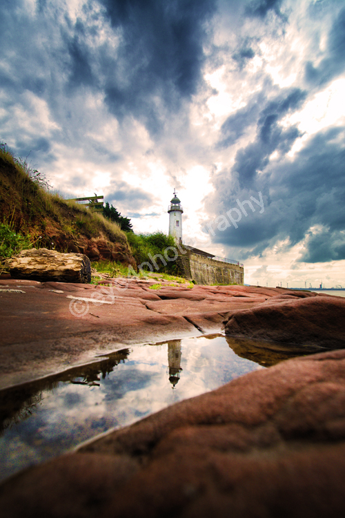 Hale lighthouse reflection portrait (c)