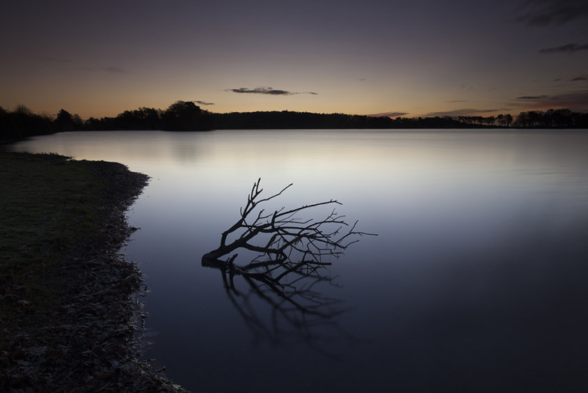 abandoned, monikie reservoir