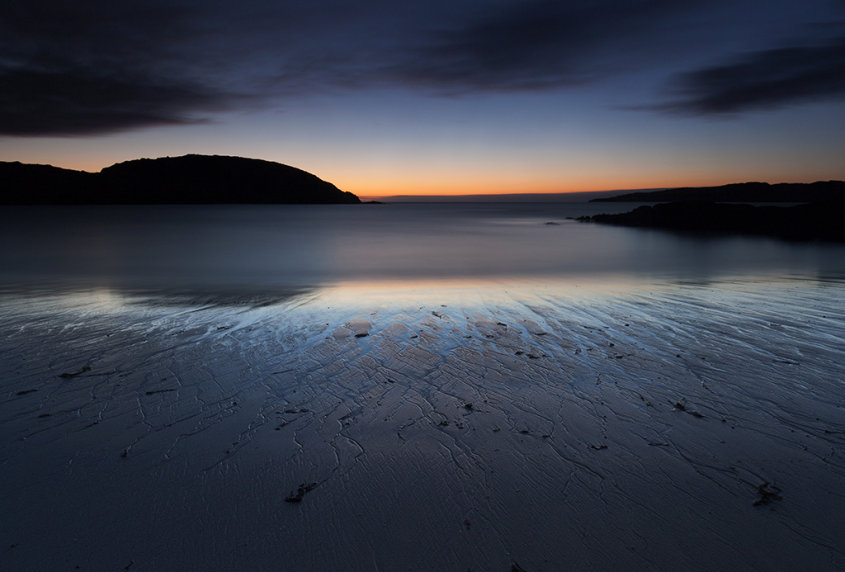 achmelvich beach sunset