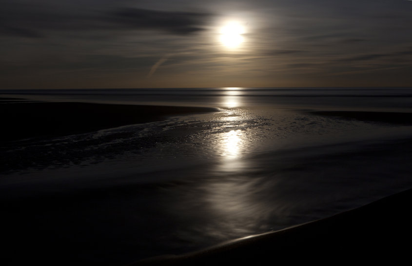 balmedie beach by moonlight