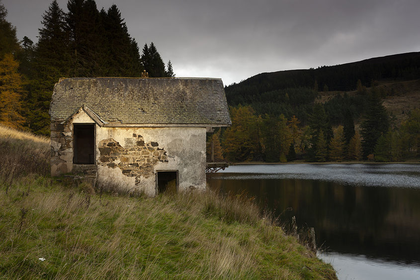 boathouse, drumore loch