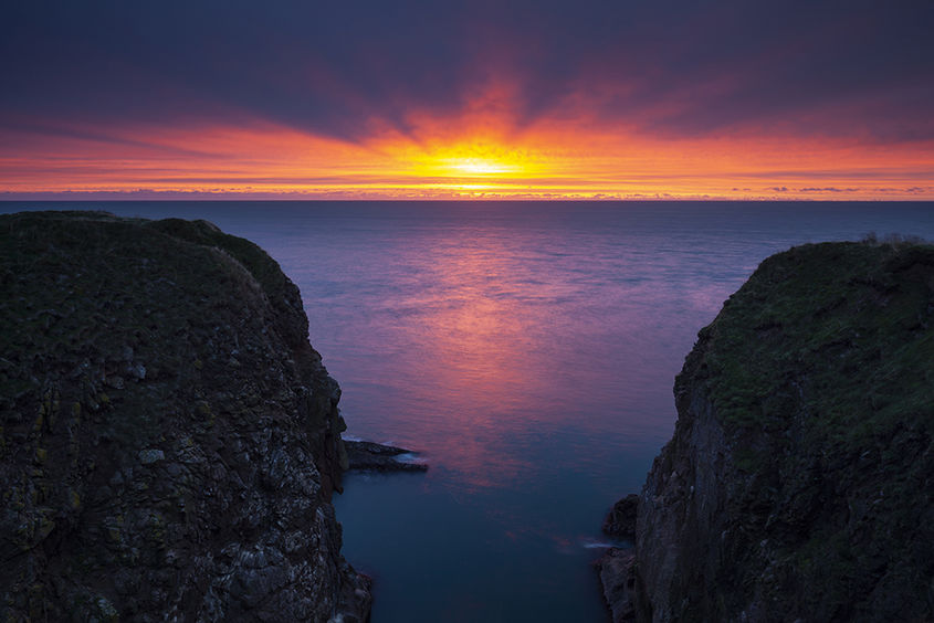 cliffside sunrise