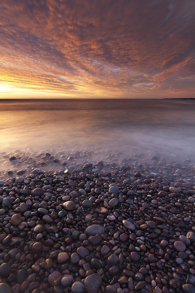 dawn, bervie bay