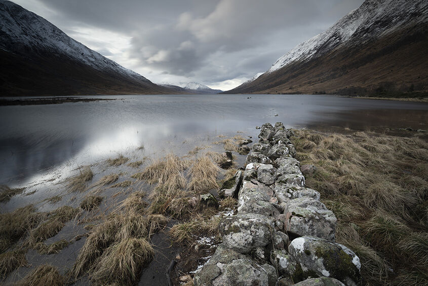 disappearing wall, loch etive