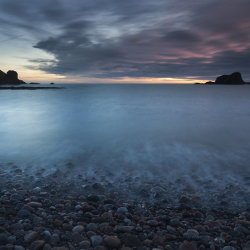 dunnottar beach sunrise